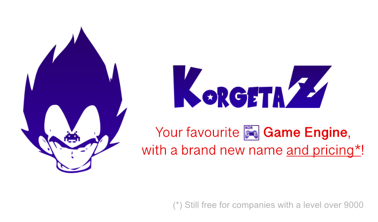 Presenting the long awaited KorGE rebranding: Korgeta Z!