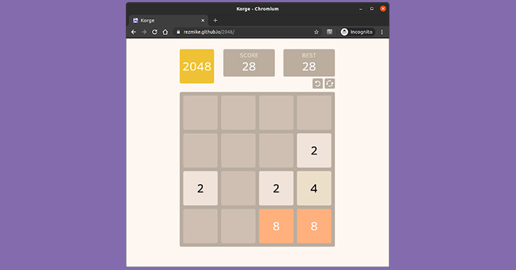 Showcase: RezMike's 2048 clone